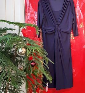 Jones Wear Navy Blue  Dress